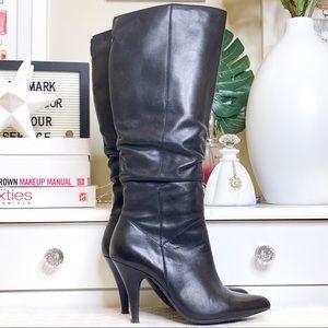 Aldo Leather Long High Heel Boots 7.5